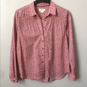 Anthropologie Maeve Ditsy Floral Button Down Top